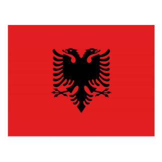 Albanian flag with two-headed eagle postcard