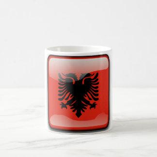 Albanian glossy flag coffee mug