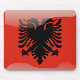 Albanian glossy flag mouse pad