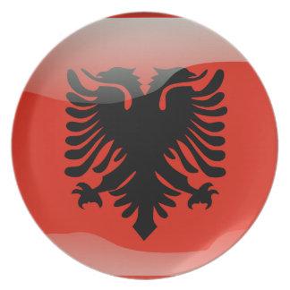 Albanian glossy flag plate