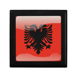 Albanian glossy flag trinket boxes
