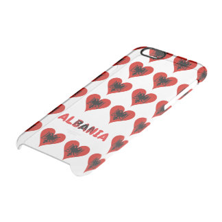Albanian heart clear iPhone 6/6S case