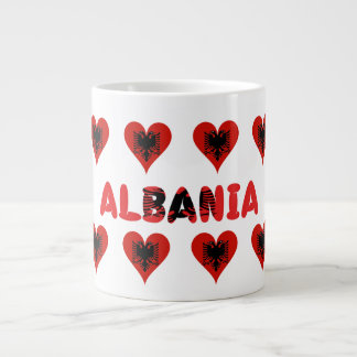 Albanian hearts large coffee mug