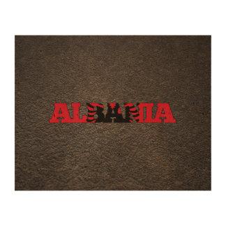 Albanian name and flag cork paper print
