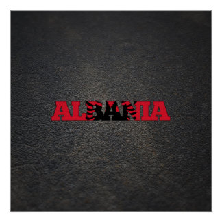 Albanian name and flag perfect poster