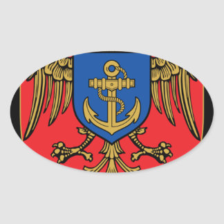 Albanian Naval Forces - Forcat Detare Oval Sticker