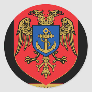 Albanian Naval Forces - Forcat Detare Round Sticker