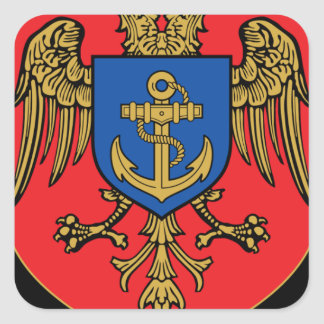 Albanian Naval Forces - Forcat Detare Square Sticker