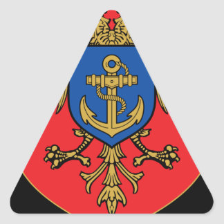 Albanian Naval Forces - Forcat Detare Triangle Sticker