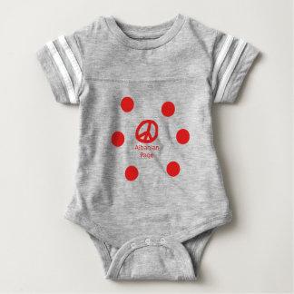 Albanian Peace Symbol Design Baby Bodysuit