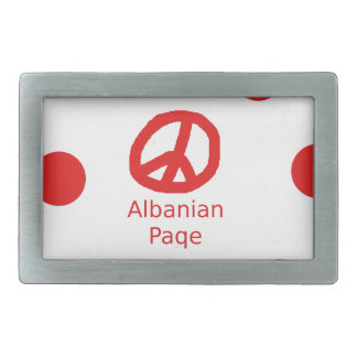 Albanian Peace Symbol Design Belt Buckles