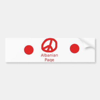 Albanian Peace Symbol Design Bumper Sticker