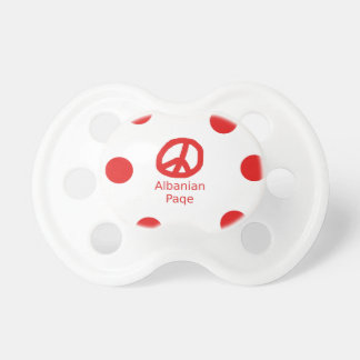 Albanian Peace Symbol Design Pacifier