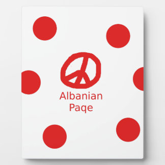 Albanian Peace Symbol Design Plaque