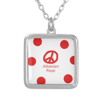 Albanian Peace Symbol Design Silver Plated Necklace