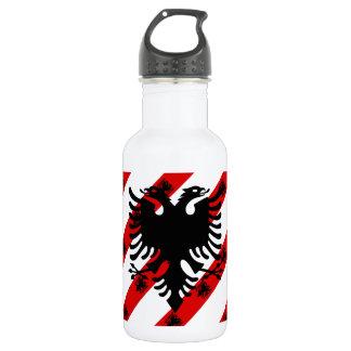 Albanian stripes flag 532 ml water bottle