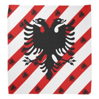Albanian stripes flag bandana