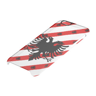 Albanian stripes flag clear iPhone 6/6S case