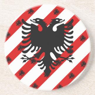 Albanian stripes flag coaster