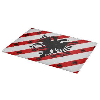 Albanian stripes flag cutting board