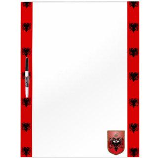 Albanian stripes flag dry erase board