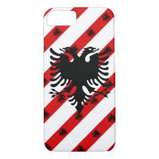 Albanian stripes flag iPhone 8/7 case