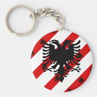 Albanian stripes flag keychain