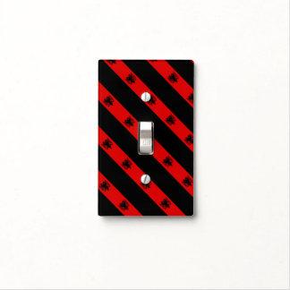 Albanian stripes flag light switch cover
