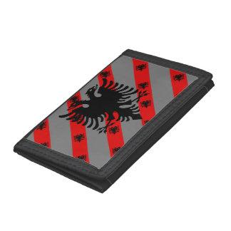 Albanian stripes flag trifold wallet