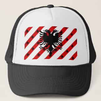 Albanian stripes flag trucker hat