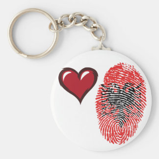 Albanian touch fingerprint flag basic round button keychain