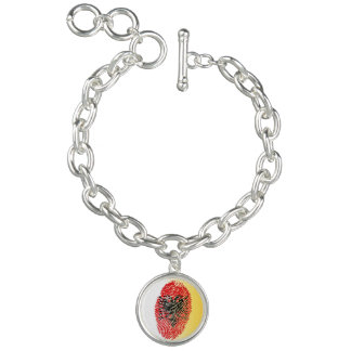 Albanian touch fingerprint flag bracelet