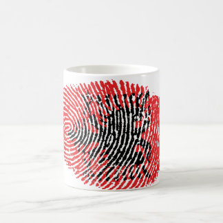 Albanian touch fingerprint flag coffee mug