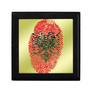 Albanian touch fingerprint flag gift box