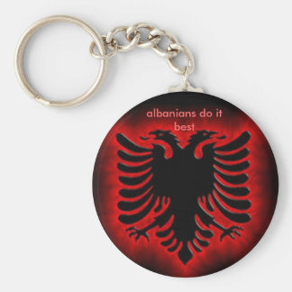 albanianeagle, albanians do it best basic round button keychain