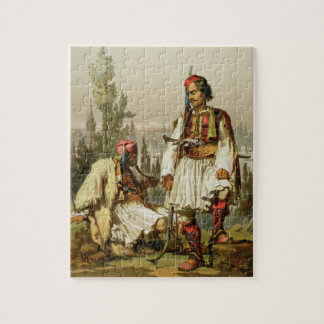 Albanians, mercenaries in the Ottoman army, pub. b Jigsaw Puzzle