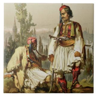 Albanians, mercenaries in the Ottoman army, pub. b Tile