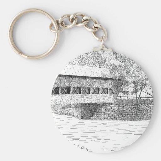 Albany Covered Bridge Key Chain