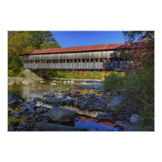 Albany covered bridge over Swift River, White Poster
