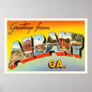 Albany Georgia GA Old Vintage Travel Postcard- Poster