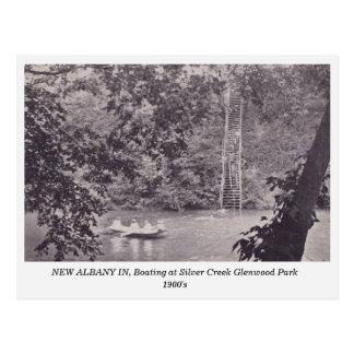 Albany IN, Glenwood Park 1900s postcard