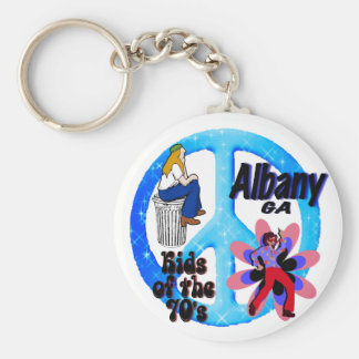Albany Kids of the 70's keychain blue