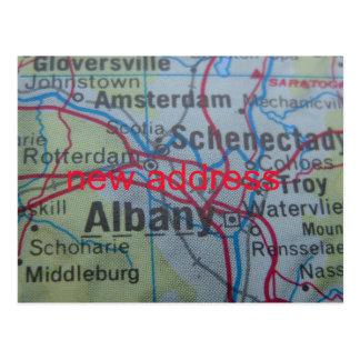 Albany New Address announcement Postcard