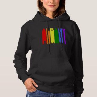 Albany New York Gay Pride Rainbow Skyline Hoodie
