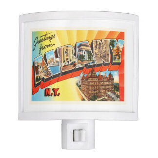 Albany New York NY Old Vintage Travel Souvenir Night Lite