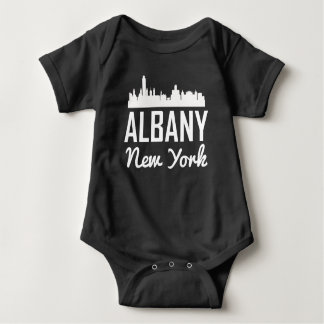 Albany New York Skyline Baby Bodysuit