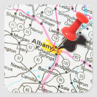 Albany, New York Square Sticker