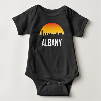 Albany New York Sunset Skyline Baby Bodysuit