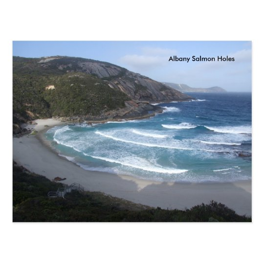 Albany Salmon Holes Postcard