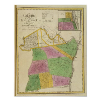Albany, Schenectady counties Poster